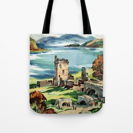 Loch Ness Vintage Travel Poster Tote Bag