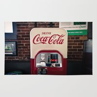 coca cola Area & Throw Rugs featuring Coca Cola by Bust it Away Photography
