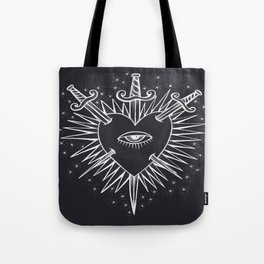 Piercing - swords, hearts, and stars Tote Bag