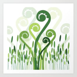 Ferns on the field Art Print
