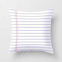 Notebook Throw Pillow