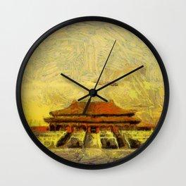 Vangoghize - Forbidden City Wall Clock