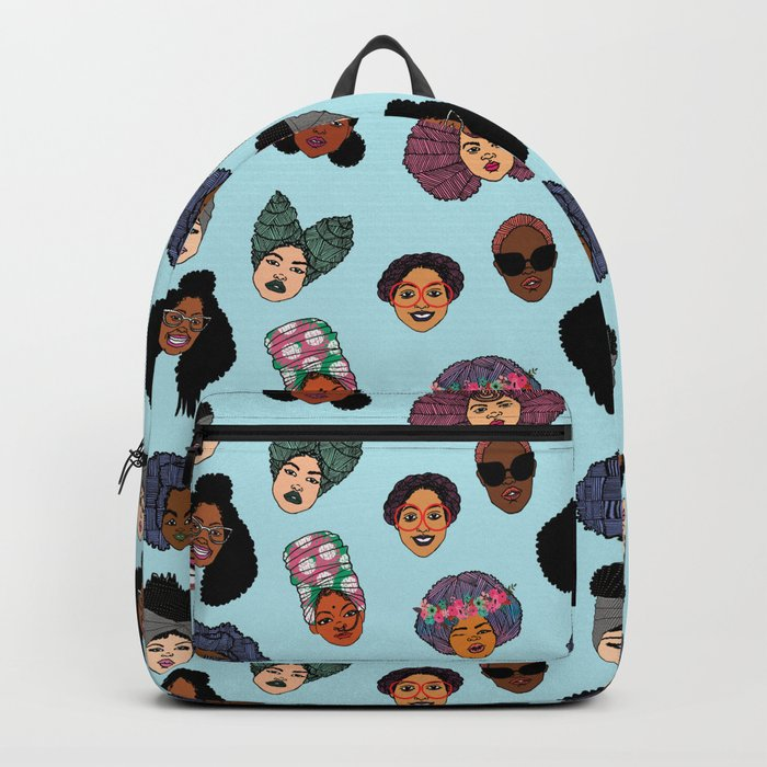 Black Hair Magic - Blue Backpack