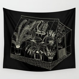 transparent greenhouse Wall Tapestry