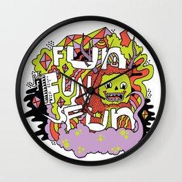 Fun Fun Fun Wall Clock