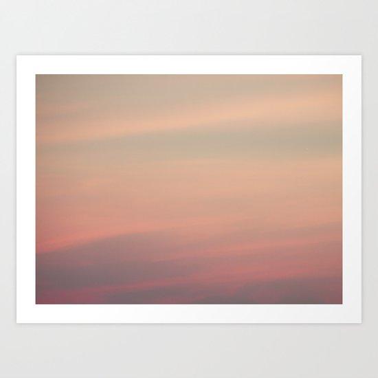 Pink Opaline Sky Art Print