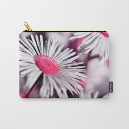 Marquerite white pink 01 Carry-All Pouch