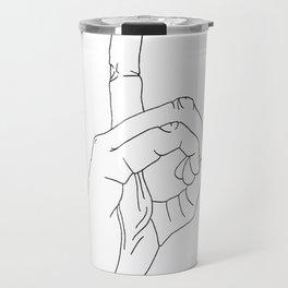sign language D Travel Mug