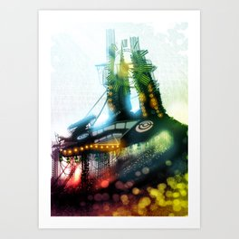 The Other Side of the Clock Art Print