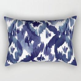 Indigo Blue Ikat Rectangular Pillow