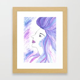 Cool Breeze Nymph Framed Art Print