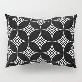 Large White Star Geometric Background Repeating Pattern Pillow Sham