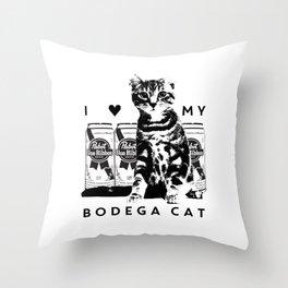I ♥ My Bodega Cat Throw Pillow