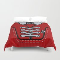 vans Duvet Covers featuring Red Vans shoes iPhone 4 4s 5 5s 5c, ipod, ipad, pillow case and tshirt by Three Second