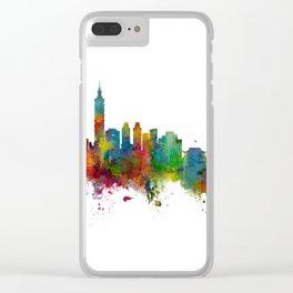 Taipei Taiwan Skyline Clear iPhone Case