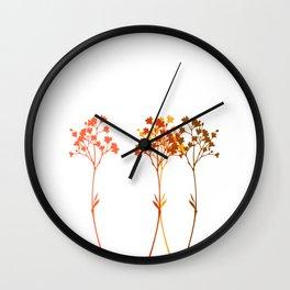 Sensation d'automne Wall Clock