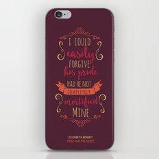 Jane Austen's Elizabeth Bennet iPhone & iPod Skin