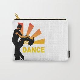 dancing couple silhouette - brazilian zouk Carry-All Pouch