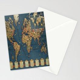retro Plakat philips radio carte du monde Stationery Cards