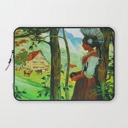 Vintage Appenzell Switzerland Travel Poster Laptop Sleeve
