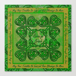 Celtic Irish Clover Duvet Canvas Print