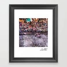 A thin line between chaos and order Framed Art Print