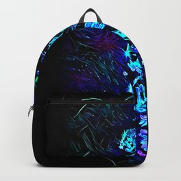 Blacklight Blossoms Backpack