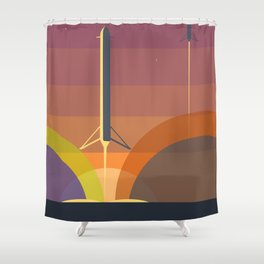 Falcon 9 Launch minimalist  Shower Curtain