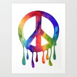 Dripping Peace Art Print