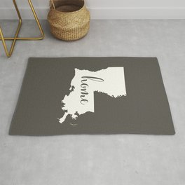 Louisiana is Home - White on Charcoal Rug