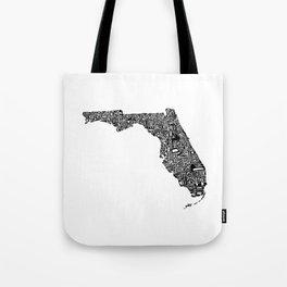 Typographic Florida Tote Bag