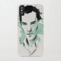 benedict cumberbatch iPhone & iPod Cases featuring Benedict Cumberbatch by charlotvanh