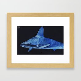 Lurking in the deep Framed Art Print