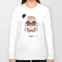 hayao miyazaki Long Sleeve T-shirts featuring Dōmo Arigatō Hayao Miyazaki (Color version) by Arian Noveir