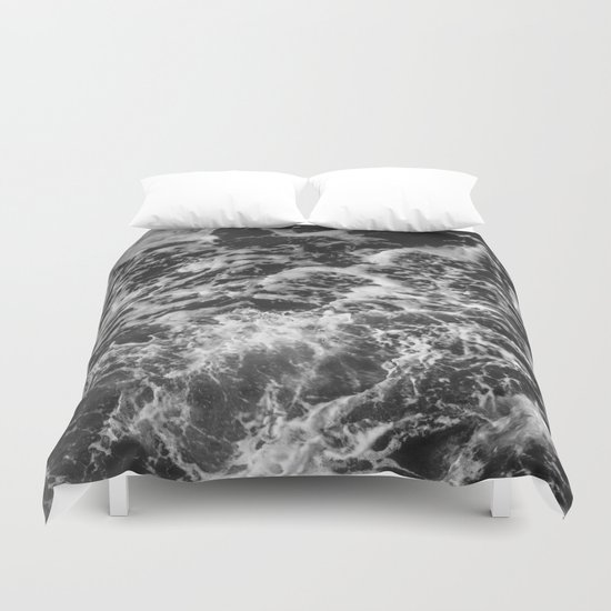 Black And White Waves Duvet Cover By Cascadia Society6