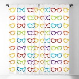 Colorful summer vintage eyewear goggles in cat eye shape Blackout Curtain