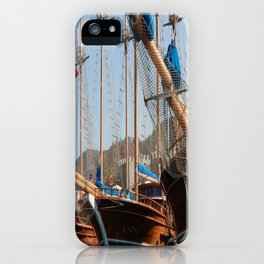 Gulets Lining The Harbour Infront of Marmaris Castle iPhone Case