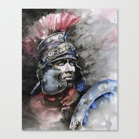 gladiator Canvas Prints featuring Gladiator by Tania Richard