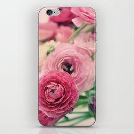 Ranunculus in Pink iPhone Skin