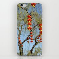 lanterns iPhone & iPod Skins featuring Lanterns by Muel