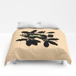 Massachusetts - State Papercut Print Comforters