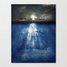 dolphins, civilization. Canvas Print
