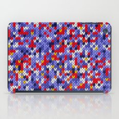 Knitted multicolor pattern 2 iPad Case