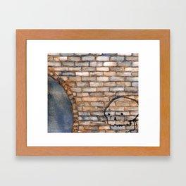 Tunnel Skull Framed Art Print