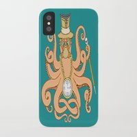 steam punk iPhone & iPod Cases featuring Steam Punk Octopus by J&C Creations