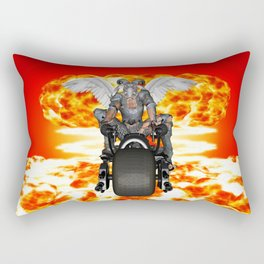 Biker of the Apocalypse-Conquest Rectangular Pillow