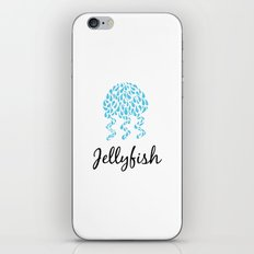 Jellyfish White iPhone & iPod Skin