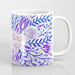 Adventure is Calling – Purple & Periwinkle Palette Coffee Mug