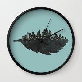 Leaf City Wall Clock