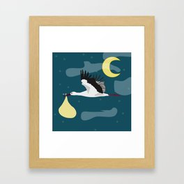 baby on the way Framed Art Print
